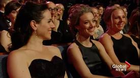 Anna Silk-Zoie Palmer-Alex Lalonde 2014 Canadian Screen Awards