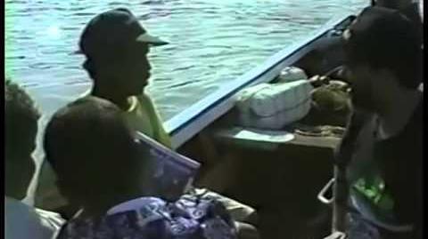 Venezuelan fisherman discussing dolphin as shark bait in 1993