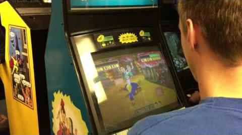 Beavis and Butthead prototype arcade game at 2016 MGC