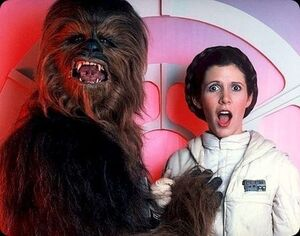 Chewbacca Carrie Fisher