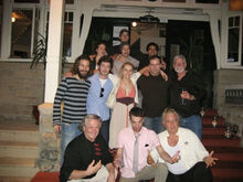 Photo with the movie actors and directors.