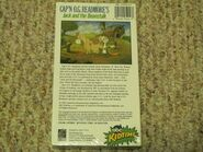 Cap'n O G Readmore Jack 1993 VHS Back cover
