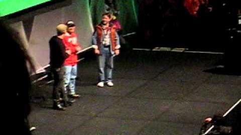 Ryan Lappin and Jade Gatt at the AVcon 2011 opening ceremony