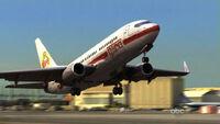 Ajira-airways-flight-316 takeoff