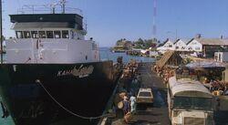 4x08 Kahana in port in Fiji