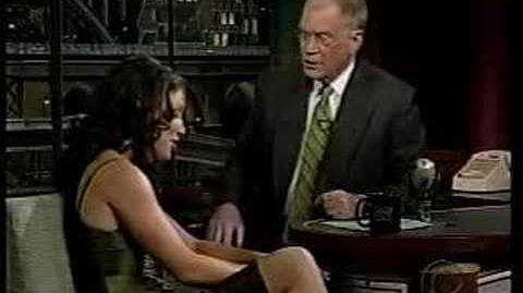 Evangeline Lilly on David Letterman 11 12 04