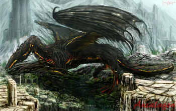 "<a href=""/wiki/Ancalagon"" title=""Ancalagon"">Ancalagon</a> i <a href=""/wiki/E%C3%A4rendil"" title=""Eärendil"">Eärendil</a>"