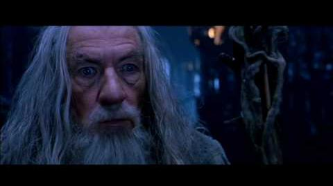 The wizard duel in Isengard