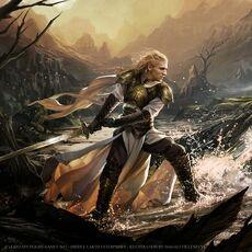 Glorfindel Warrior Skill - Magali Villeneuve