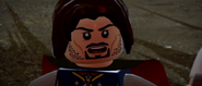 Lego lotr Aragorn at the Black gate