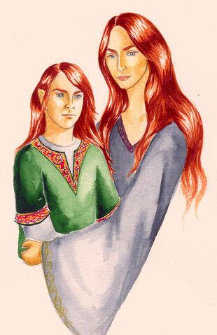 File:Nerdanel and Maitimo by Filat.jpg