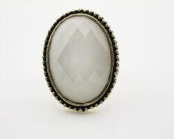 Oval shapr white gem adjustable cocktail ring wholesale 1.jpg
