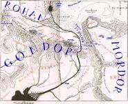 East gondor west mordor and south rohan