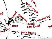 Midgewater Marshes Tolkien map