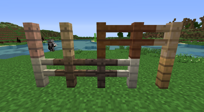 Added Real Wood Fences
