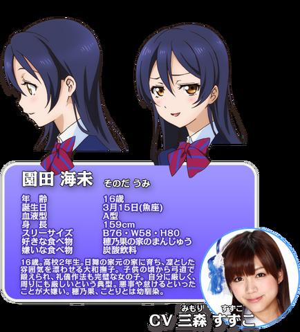 File:Sonoda Umi Character Profile.png