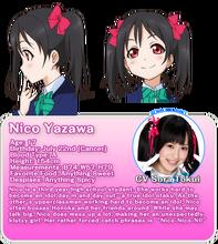 Yazawa Nico Character Profile (Official Translation)