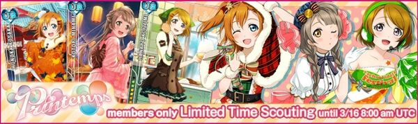 (3-13) Printemps Limited Scouting