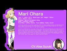 Sunshine!! translated character intro - Ohara Mari