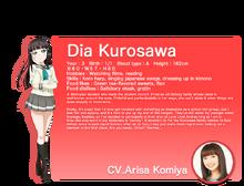 Sunshine!! translated character intro - Kurosawa Dia