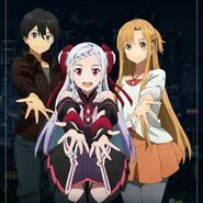 Asuna and Kirito - Sword Art Online Ordinal Scale Promotional Pic
