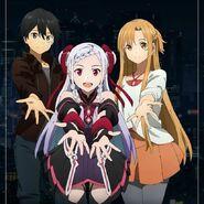 Asuna and Kirito - Sword Art Online Ordinal Scale Promotional Pic