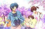 Tomoya, Nagisa & Ushio Promotional Pic