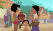 Mowgli has Shanti's water jug