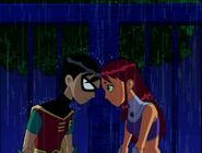 Teen Titans Robin and Starfire both love each other