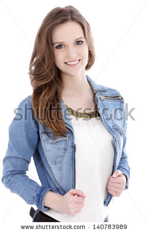 File:Stock-photo-smiling-teenage-woman-in-a-trendy-denim-jacket-looking-at-the-camera-upper-body-studio-portrait-on-140783989.jpg