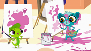Vinnie and Sunil painting