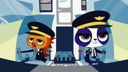 Russell and penny driving an pet jet fantasy
