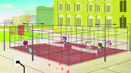 S1 E1 at the school's tennis courts