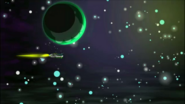 S1 E3 Brains's ship passing the moon