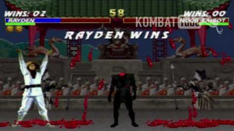 """Mortal Kombat 3 - Fatalities - Rayden Mortal Kombat (1992) - """"Exploding Thunder"""""""