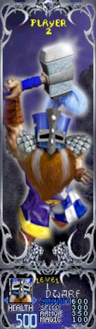 Gauntlet Dark Legacy - Blue Dwarf (Player 2)