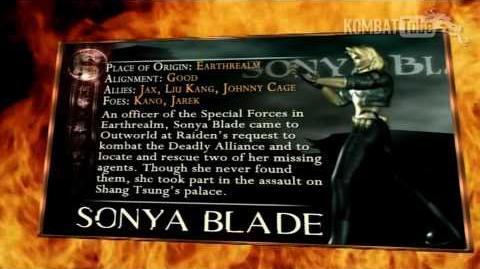 Mortal Kombat - BioKards - Sonya Blade