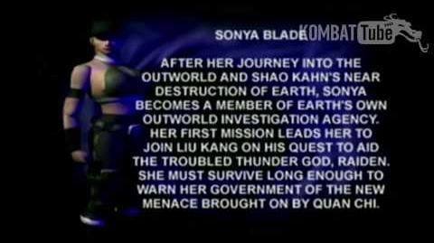 Mortal Kombat 4 Mortal Kombat Gold - Biographies - Sonya Blade