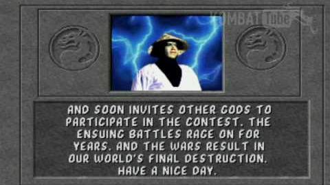 Mortal Kombat (1992) - Endings - Raiden