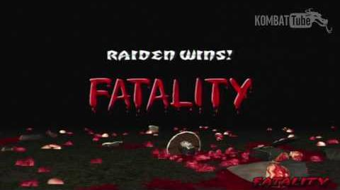 "Mortal Kombat Deception - Fatalities - Raiden - ""Electric End"""