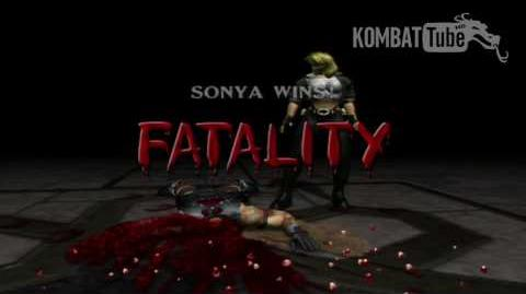 "Mortal Kombat Deadly Alliance - Fatalities - Sonya Blade - ""Kiss"""
