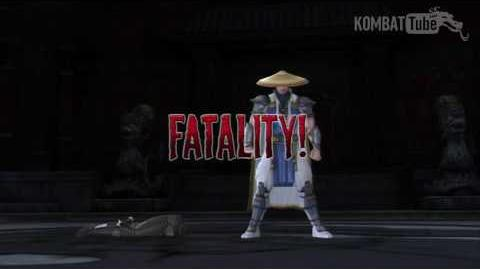"Mortal Kombat vs. DC Universe - Fatalities - Raiden - ""Tele-Throw"""