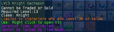 Level 13 knight caster gunner gachapons 1