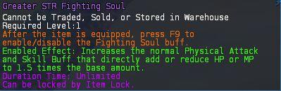 Level 16 advanced INT STR fighting soul 1