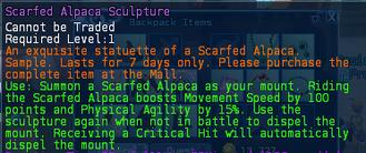 Scarfed Alpaca Sculpture Description