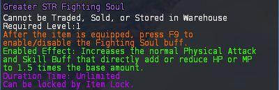 Level 16 advanced INT STR fighting soul 2