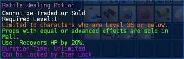 Level 07 battle healing mana potions pic1