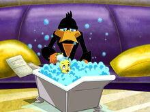 Loonatics tweety bathing end yuck-0