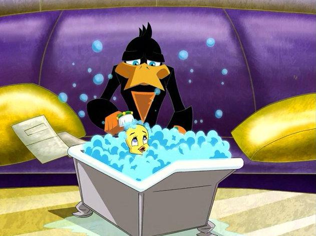File:Loonatics tweety bathing end yuck.jpg