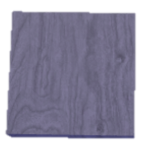 A close-up view of Grey Wood, inside a